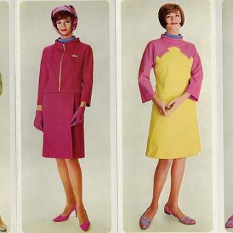 Emilio Pucci Uniforms For Braniff International Airlines' Hostesses, 1965-73