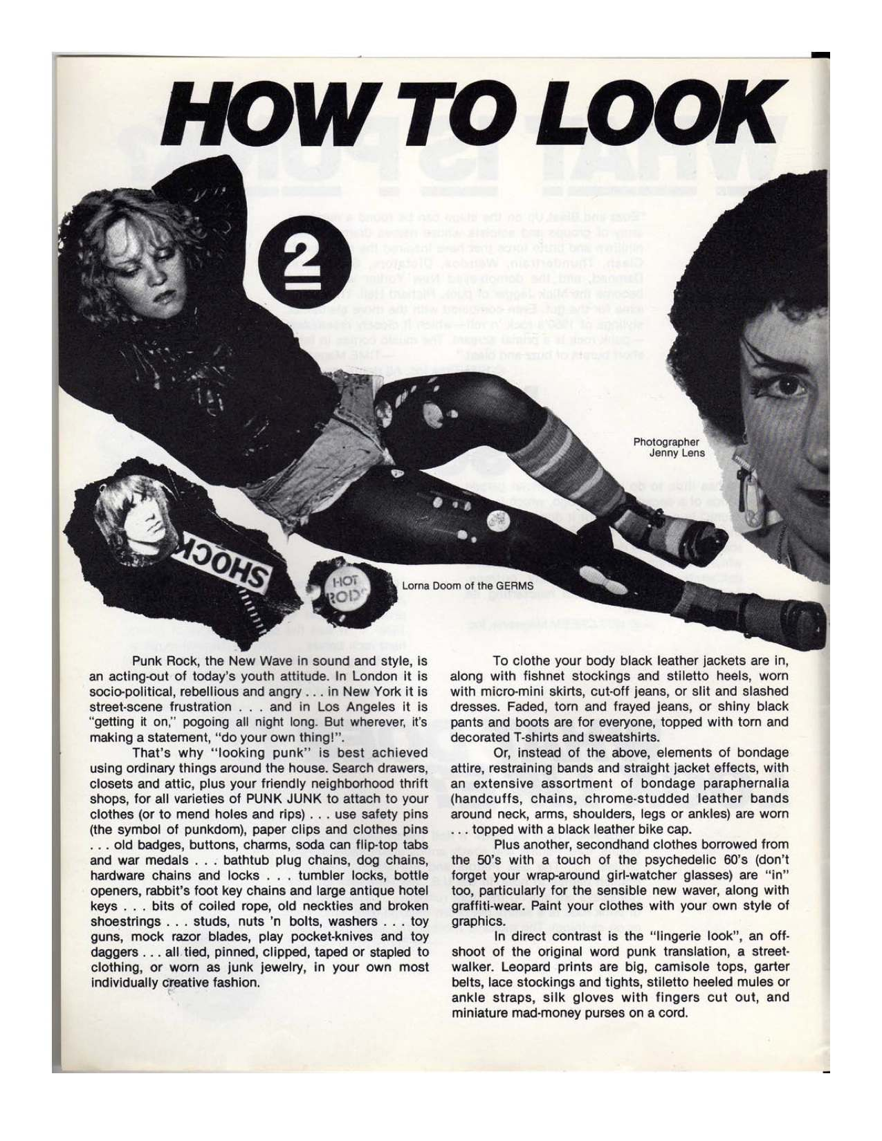 How To Look Punk A 1977 Guide For Wannabes