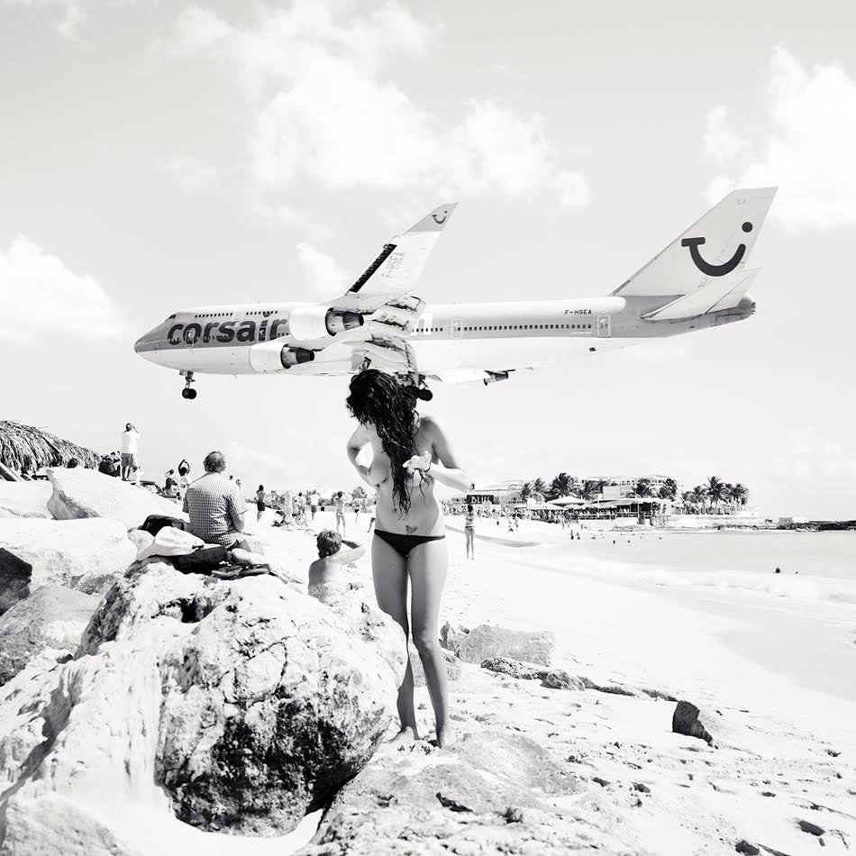Princess Juliana International Airport on the Dutch/French Caribbean island of St Maarten/St Martin