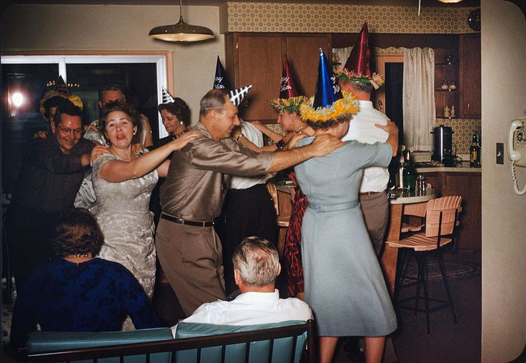 new years eve party retro vintage dancing drinking , Flashbak