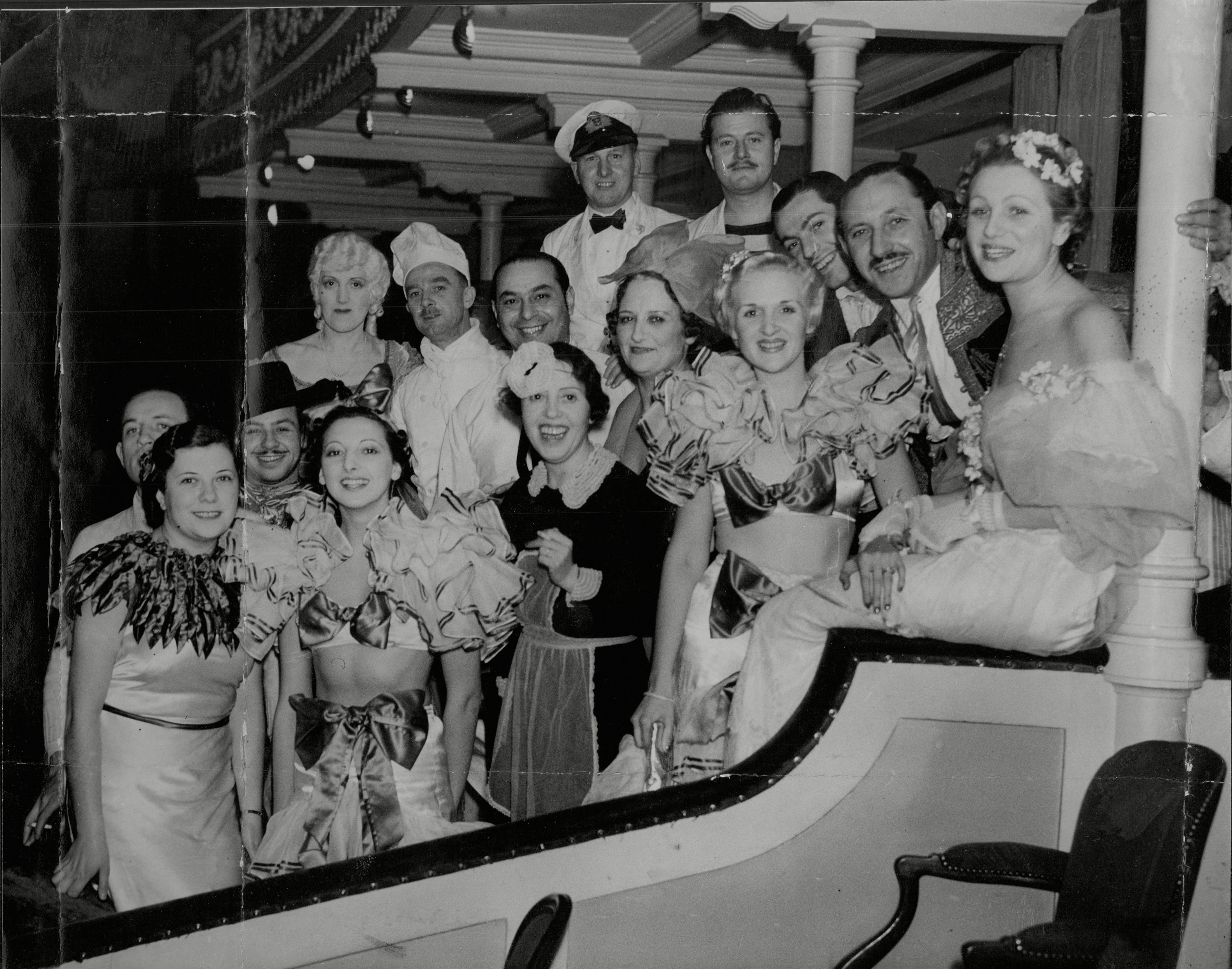Smiling Faces At The Chelsea Arts Ball At The Royal Albert Hall In London On New Year's Eve. 31 Dec 1935