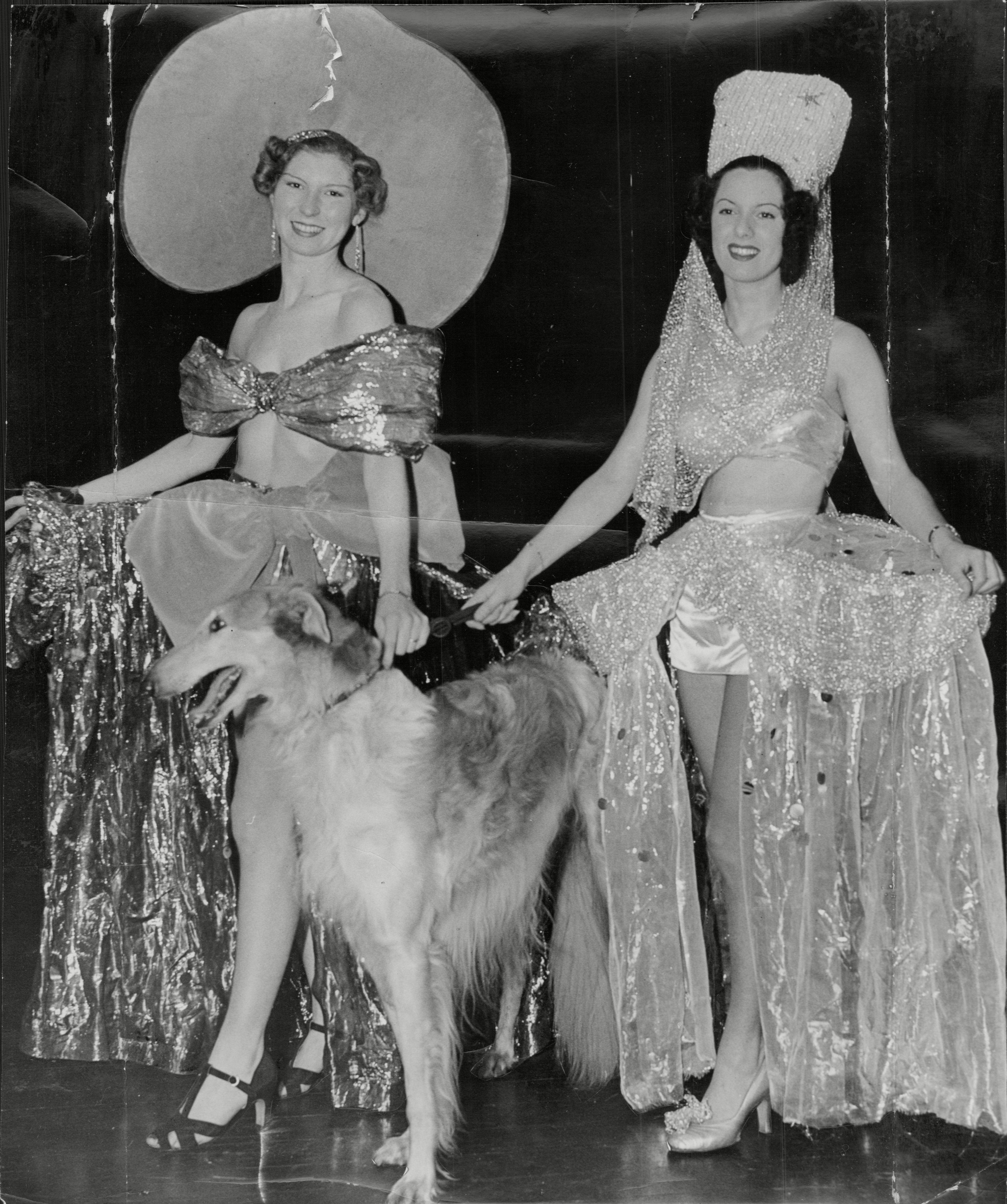 All Dressed Up With Somewhere To Go On New Years Eve- The Chelsea Arts Ball Flaming Youth Is The Theme For The Tableaux. 23 Dec 1937