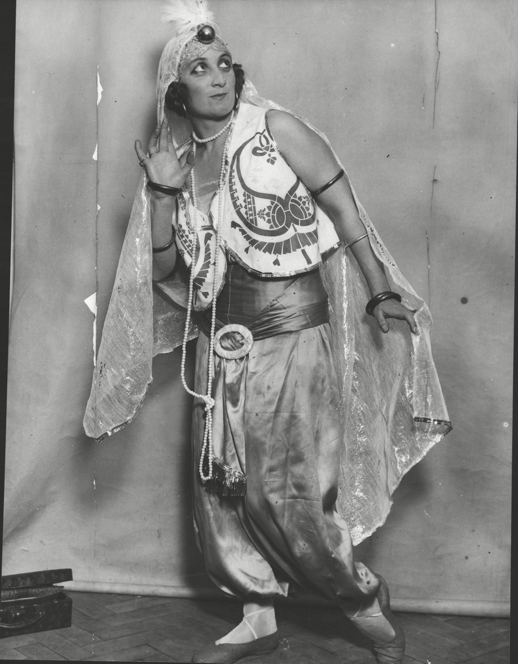 Miss C. H. A. Howard Mercer In The Costume She Will Wear As An Arabian Princess At The Chelsea Arts Ball.