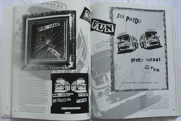 Sleeve and rejected poster for Pretty Vacant, Up They Rise