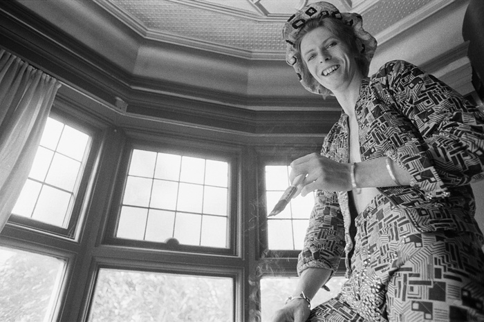 David Bowie at home in Beckenham, 25 April 1972.