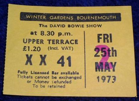 Bournemouth Bowie 1973