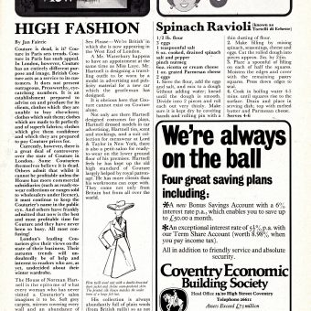 The Greatest Soccer Programme Ever: Coventry City's 1971 Ode To Sex And High Fashion