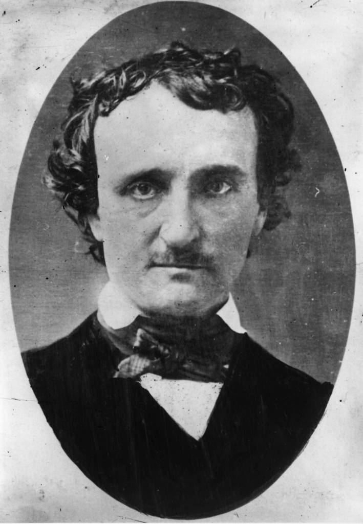 Edgar Allan Poe ( 1809 - 1849 ) the novelist and poet from a daguerreotype taken in Lowell, Massachusetts. (Photo by Hulton Archive/Getty Images)