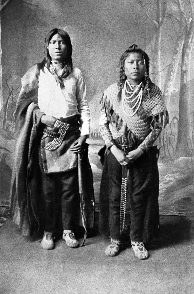Two of the first pupils at the Blackfoot Anglican School. Date: [ca. 1886]