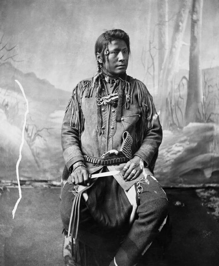 Blackfoot man. Date: [ca. 1885-1894]
