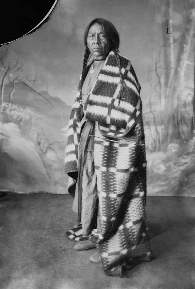 First Nations man, Alberta. Date: [ca. 1886-1890]