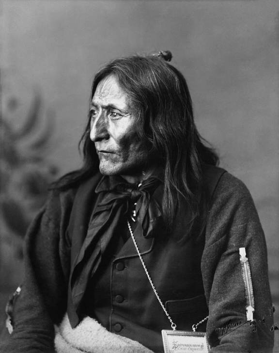 Crowfoot, Head Chief of the Blackfoot. Date: 1887
