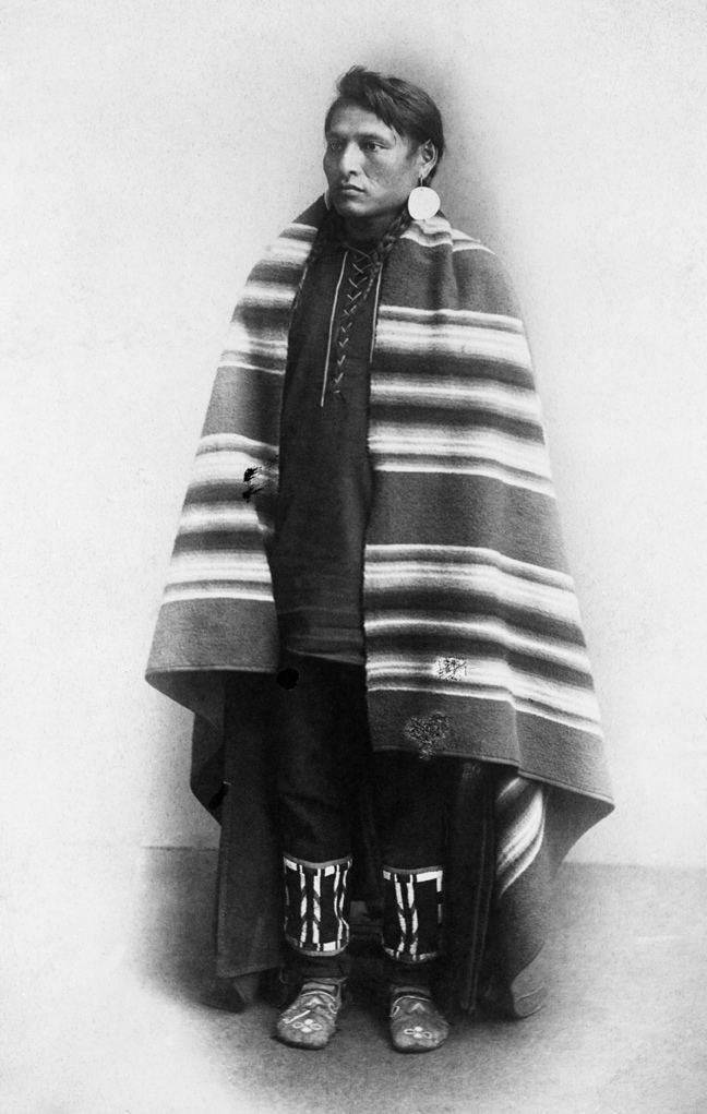 Blackfoot man. Date: [ca. 1886-1889]