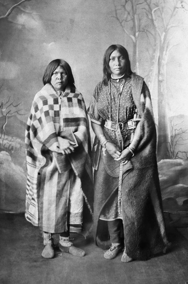Two Sarcee (Tsuu T'ina) girls. Date: [ca. 1887]