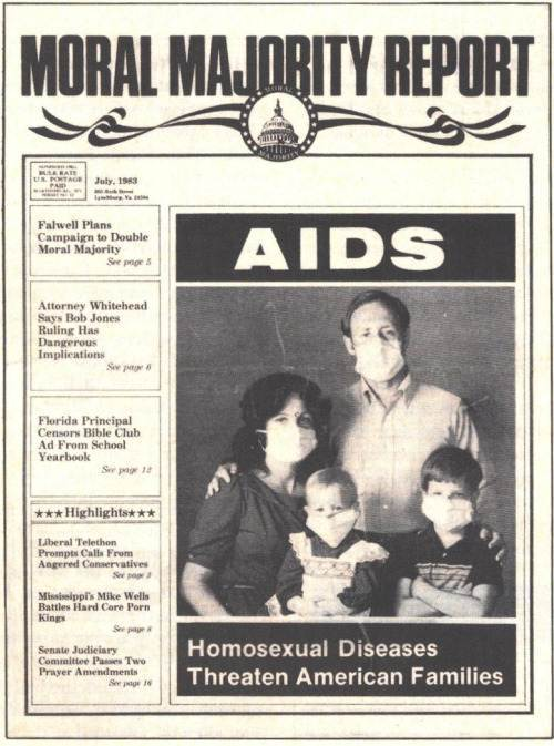 Cover of the Moral Majority Report from July, 1983