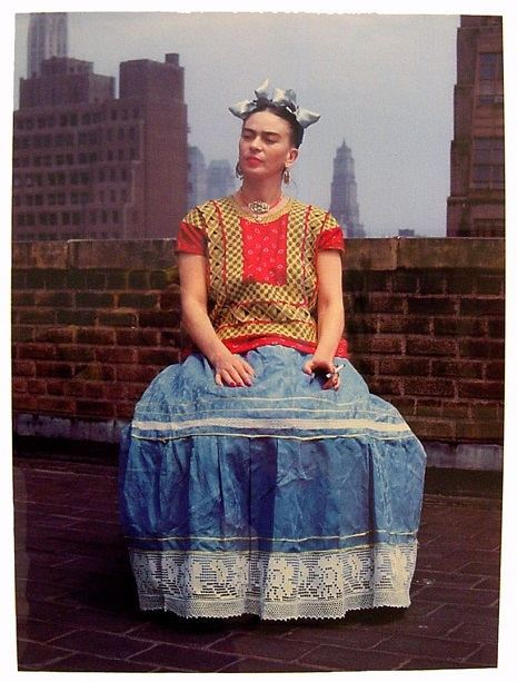 Frida On The Rooftop, New York, 1946
