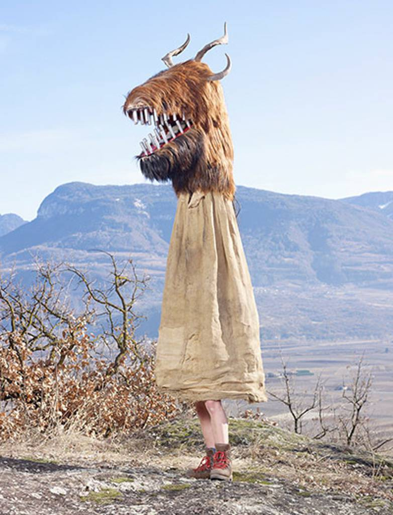 From Italy, these horned creatures are often three metres high and appear on Shrove Tuesday to spread terror on the streets of the wine village of Tramin. Their origin is unknown