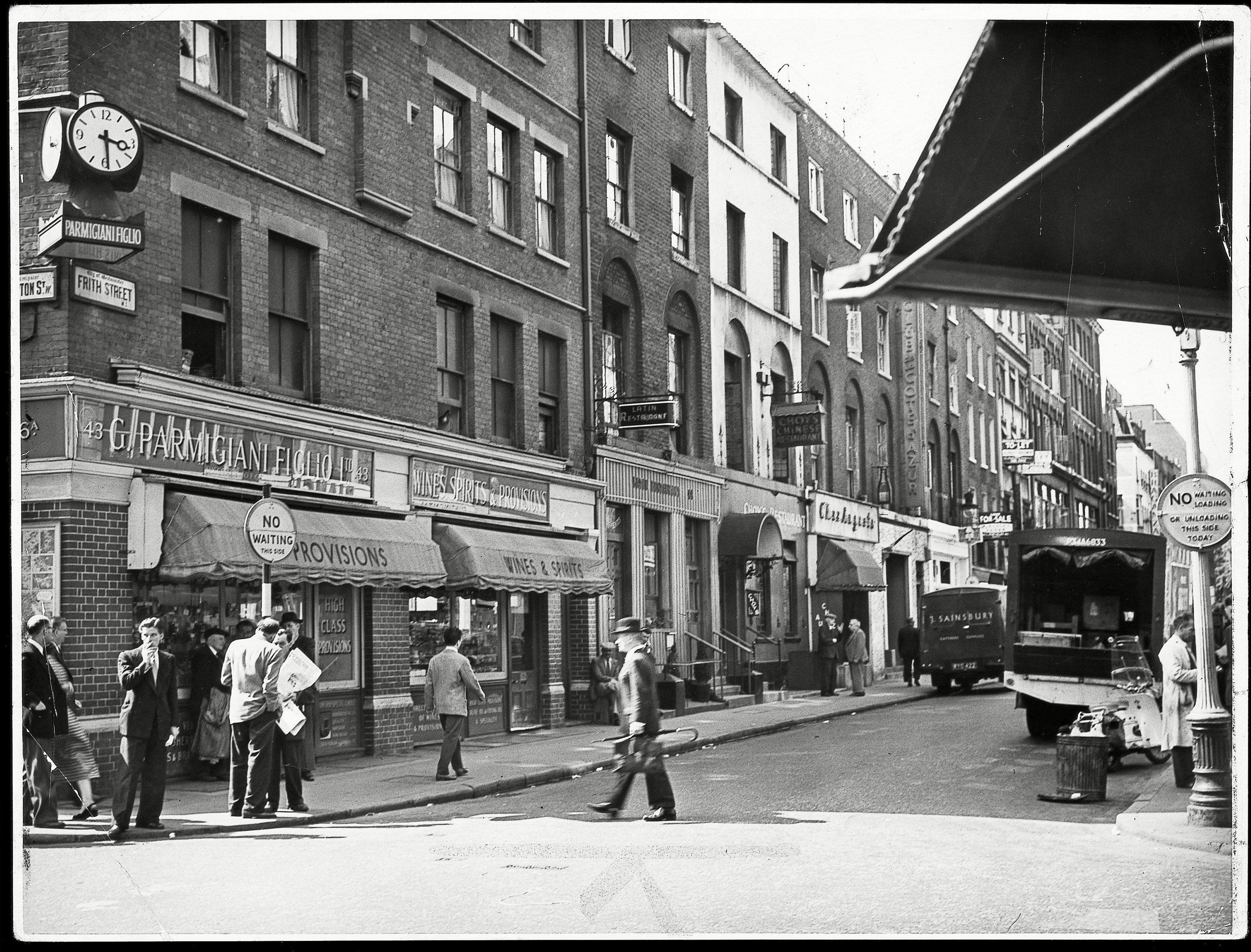 Corner Of Old Compton Street And Frith Street Soho