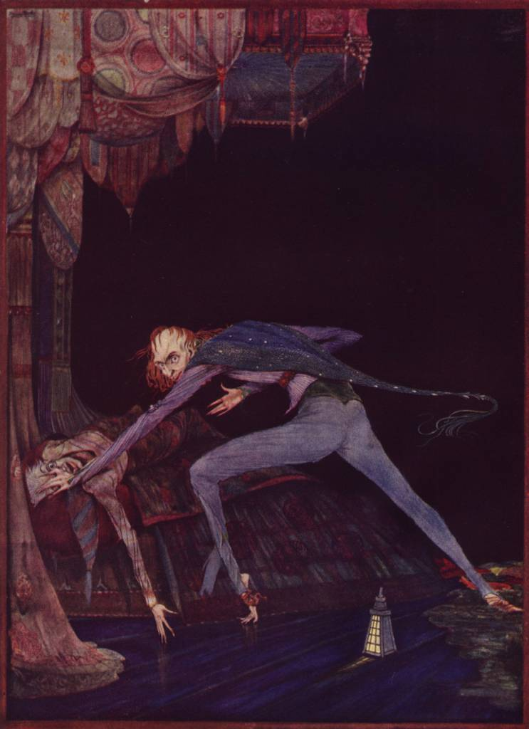 Tell Tale Heart Illustration from Tales of Mystery and Imagination by Edgar Allan Poe. Illustrated by Harry Clarke.