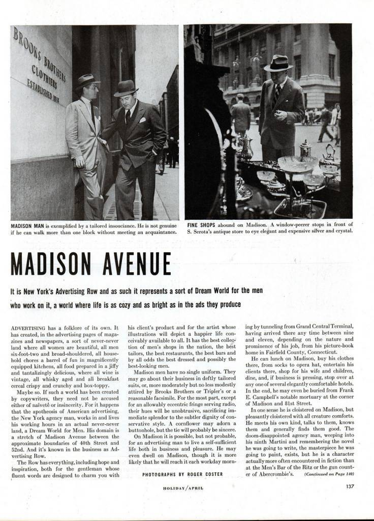 MAdison AVenue retro