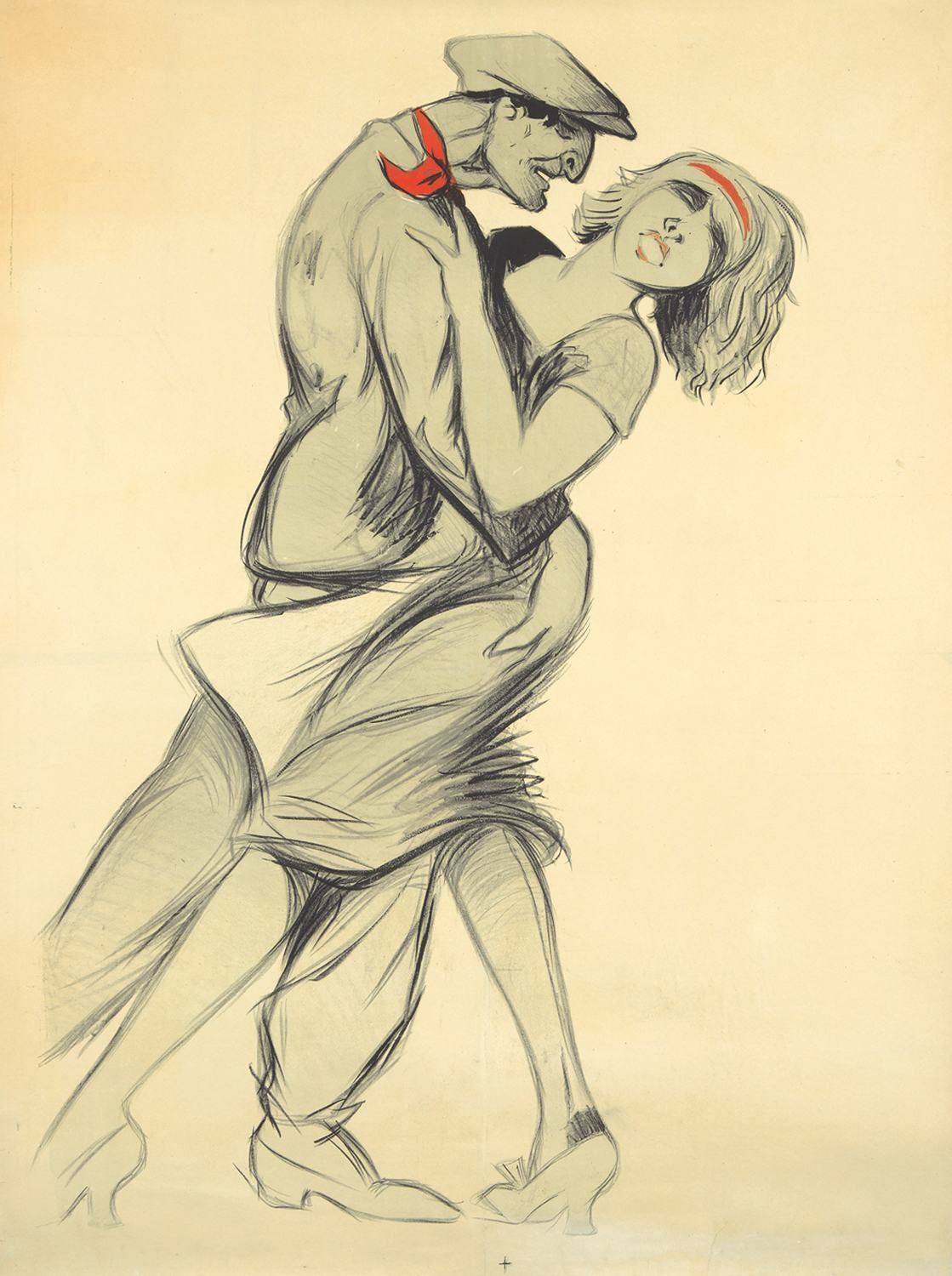 Mistinguett and Max Dearly by Adrien Barrere, ca. 1909