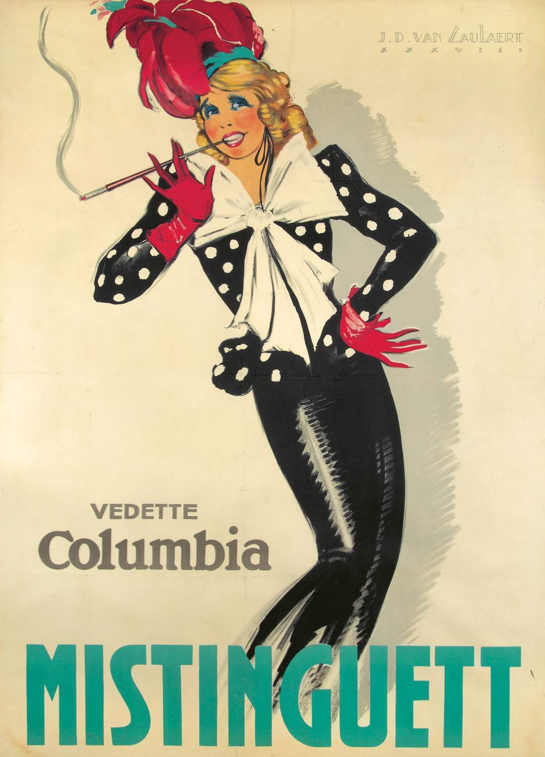 Mistinguett by Jean-Dominique Van Caulaert, 1938