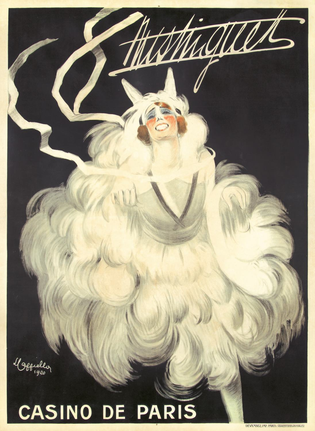 Mistinguett by Leonetto Cappiello, 1920