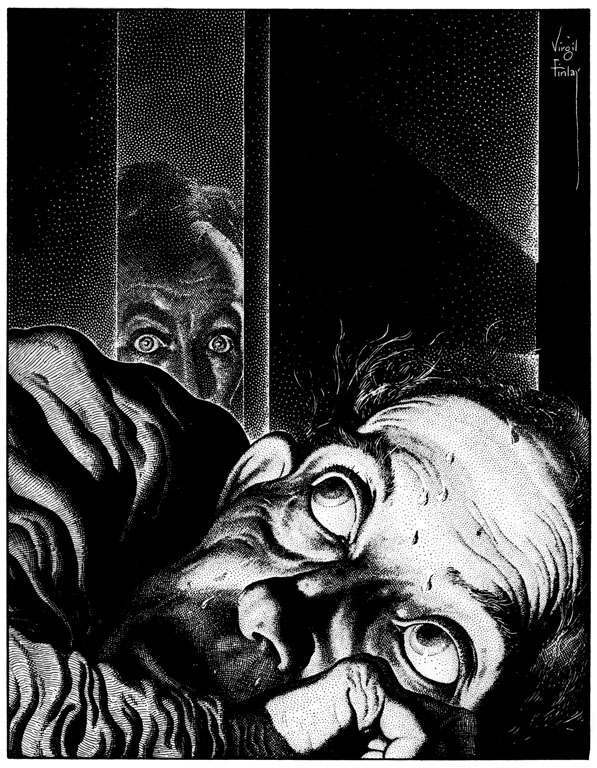 The Tell-Tale Heart by Virgil Finlay.