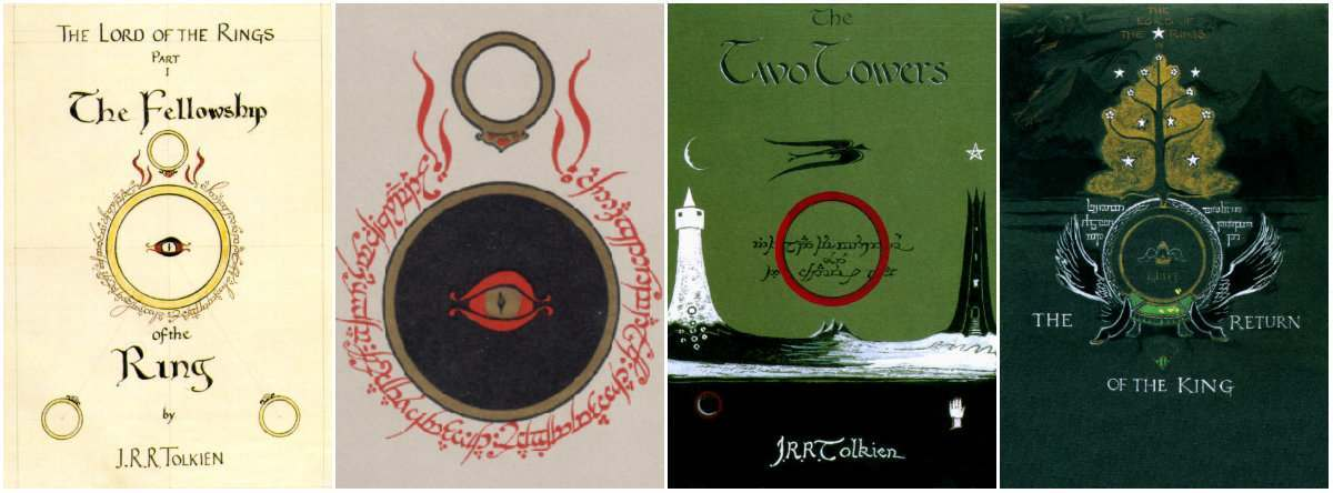 J.R.R. Tolkien's Personal Book Cover Designs for The Lord of the Rings Trilogy