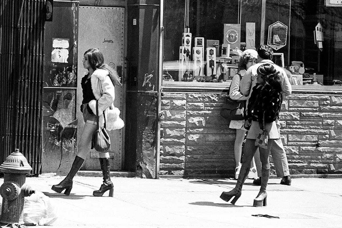 New York City 1970's On the Bowery Leland Bobbé