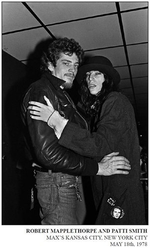 Robert Mapplethorpe and Pattie Smith at Max's Kansa sCity, May 1978