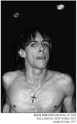 Iggy Pop at the Palladium, March 28 1977