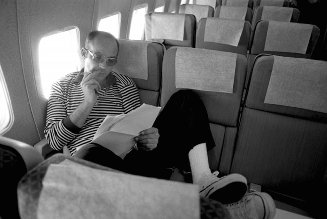 Mandatory Credit: Photo by AG/Keystone USA/REX/Shutterstock (514091b) Hunter S. Thompson aboard the Jimmy Carter Campaign plane, Florida, America - Mar 1976 HUNTER S THOMPSON