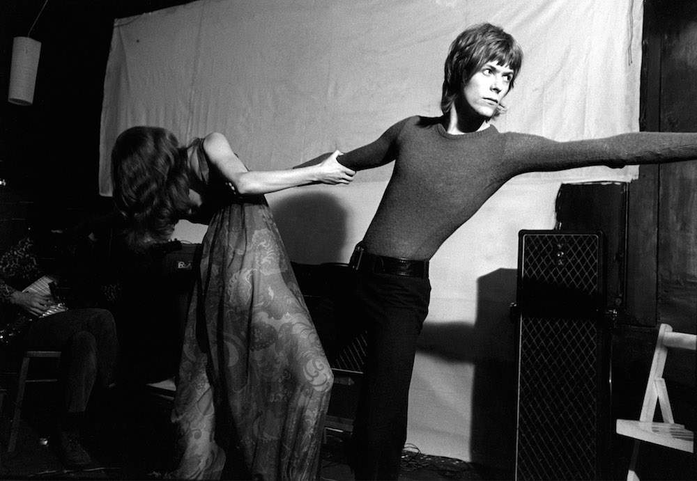 Mandatory Credit: Photo by Ray Stevenson/REX/Shutterstock (563052d) Turquoise - Hermione Farthingale and David Bowie DAVID BOWIE AND TURQUOISE, LONDON, BRITAIN - 1968