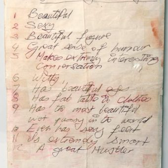 What Makes Nancy Spungen So Great: A Handwritten List By Sid Vicious