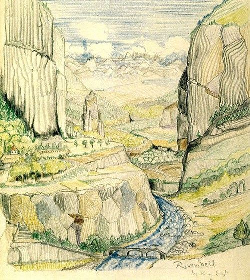 tolkein drawings paintings 33