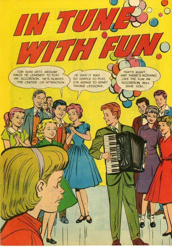 In Tune With Fun A 1950s Accordion Comic Book Flashbak