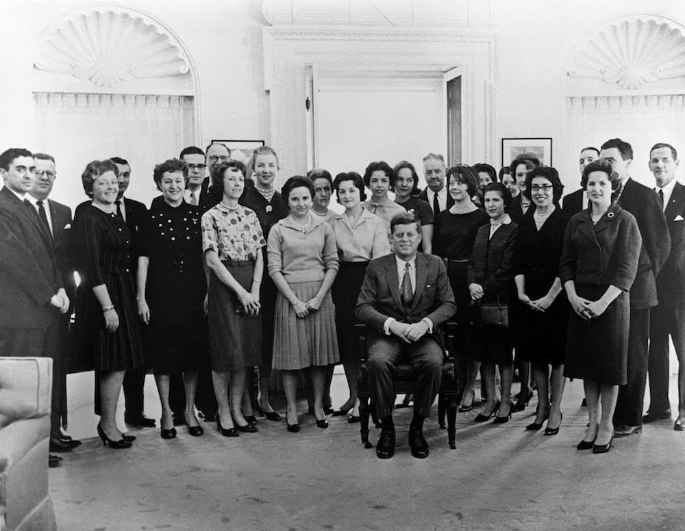 President John F. Kennedy with His White House Staff