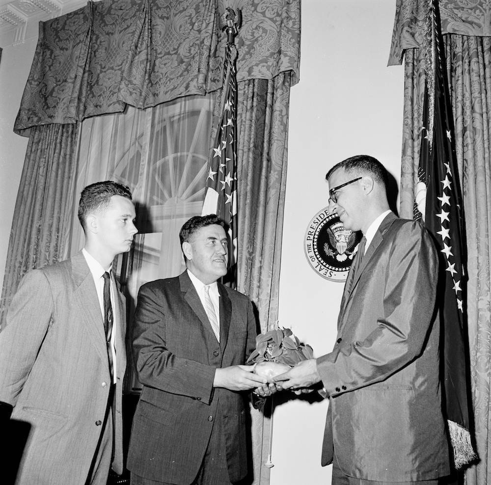 Presentation of a Plant for President John F. Kennedy