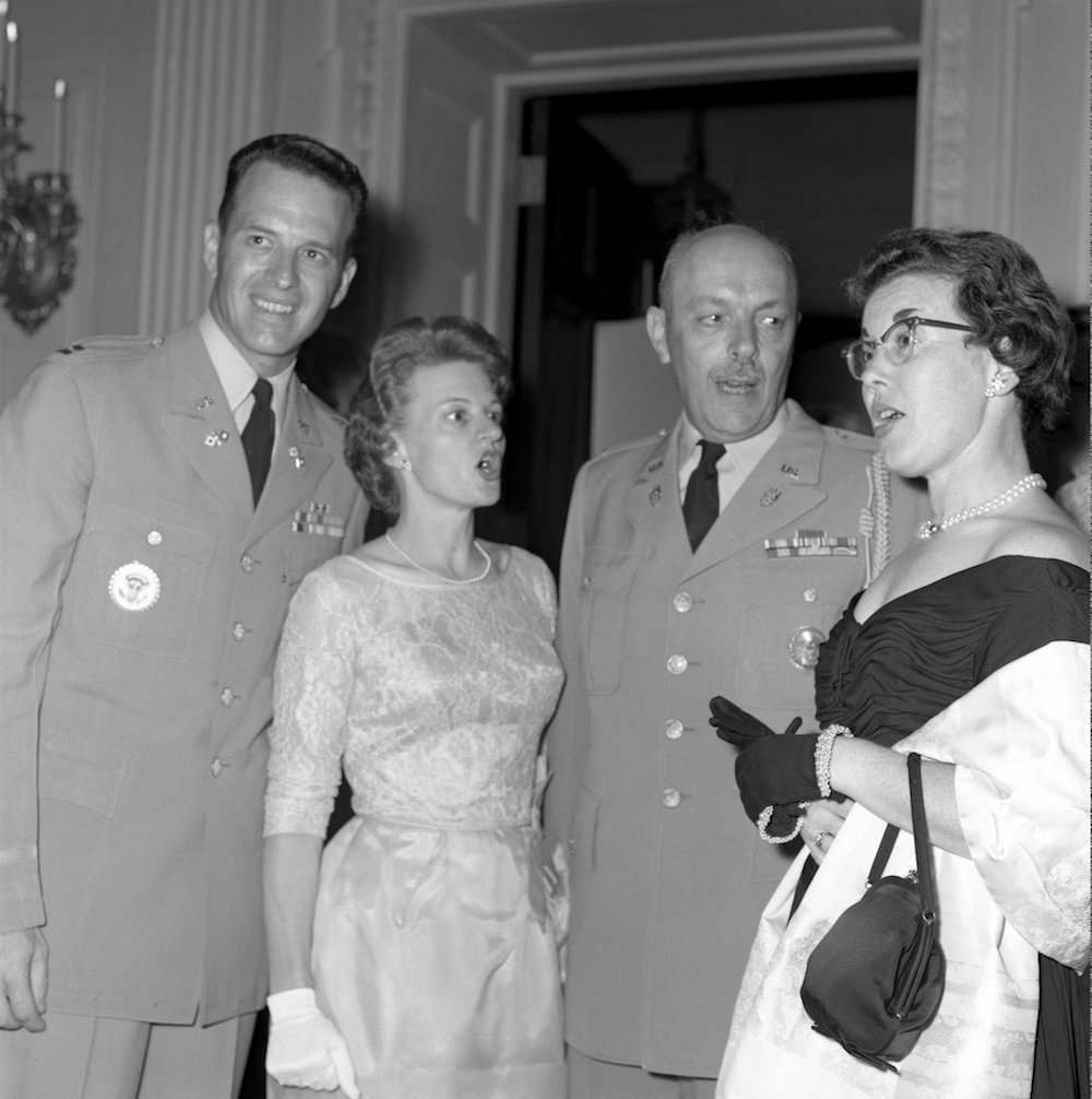 White House Communications Agency Officer, Jack Rubley, and Wife, Bernice Rubley, at White House Military Reception