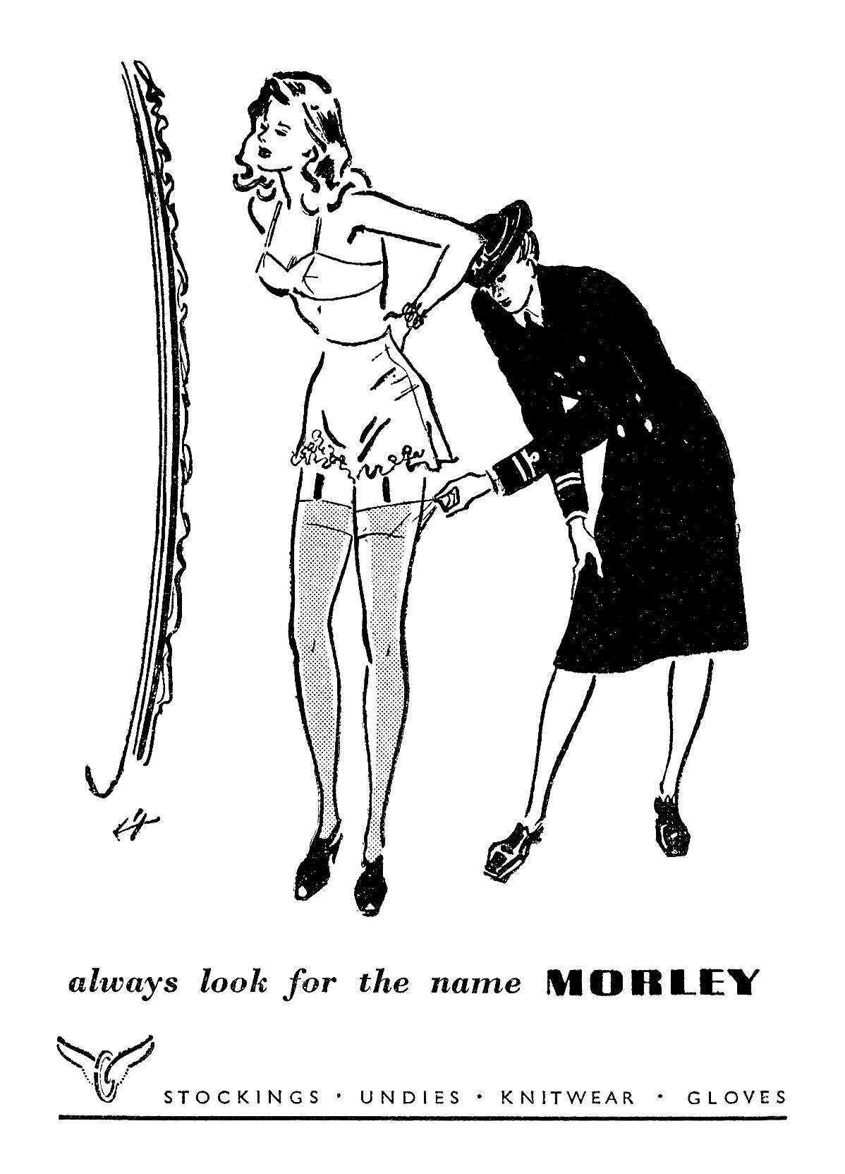 1944 Morley Stockings ad