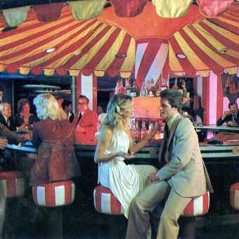 Mind-Blowing Postcards of Mid-Century Bars With Merry-Go-Round Themes