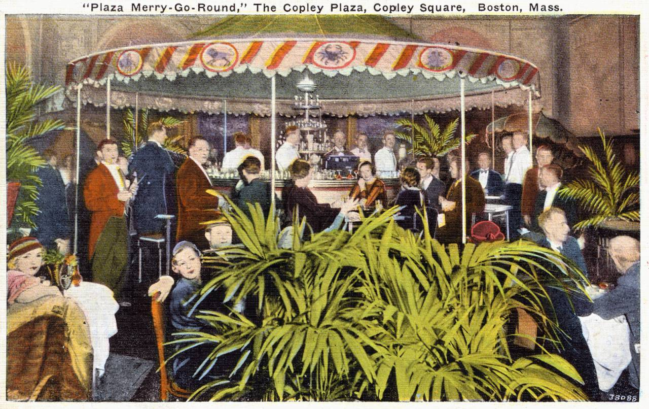 Plaza Merry-Go-Round Bar Copley Plaza Hotel Copley Square Boston MA postmarked 1936