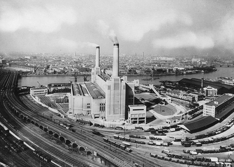 Battersea Power Station in August 1936.