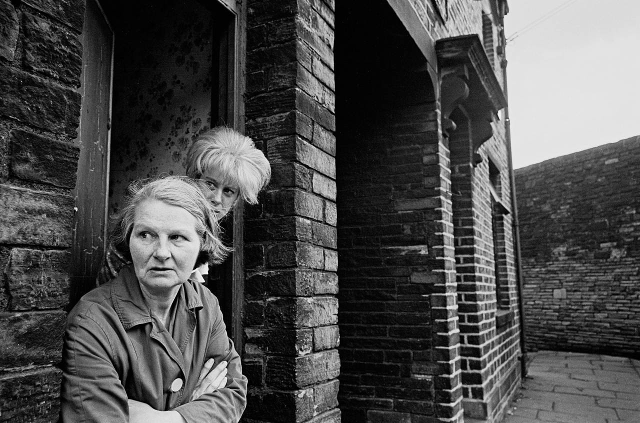 Bradford, 1969 A mother and daughter outside their slum terraced house