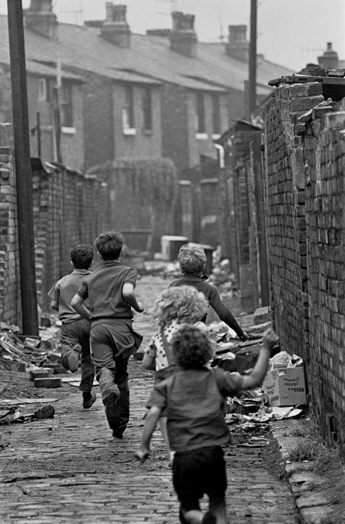 Children playing in Manchester 1971