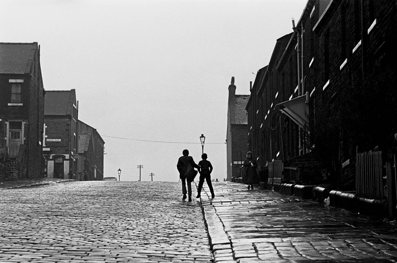 Delivering newspapers, Bradford 1969
