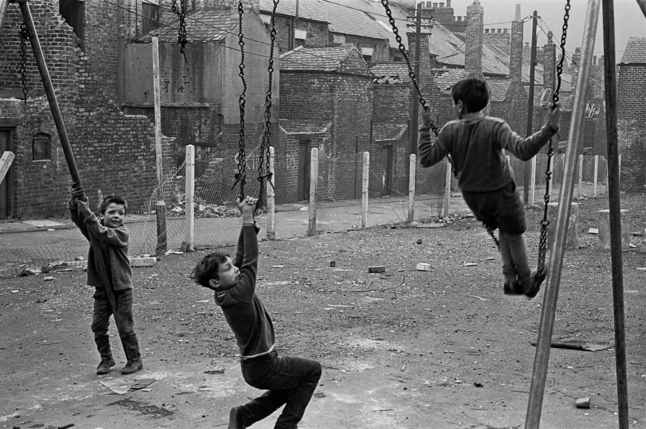 Derelict playground, Newcastle upon Tyne 1971