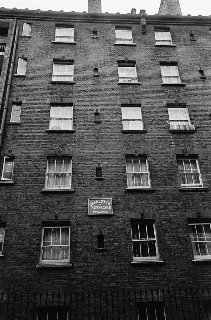 Exterior Rothschild Dwellings Whitechapel 1969