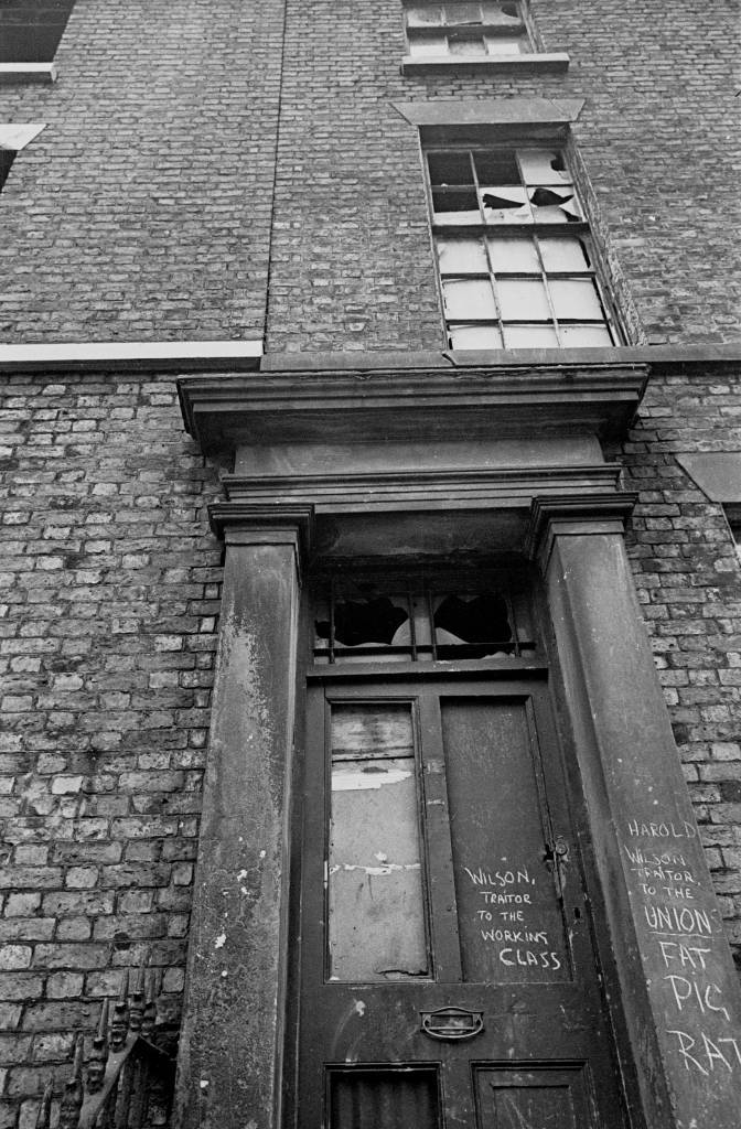 Exterior of condemned property Liverpool 8, 1969